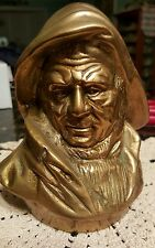 Brass Ship Captain/ Sailor Head Sculpture
