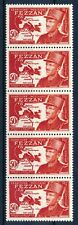 [P15222] Fezzan 1949 : 5x Good Very Fine MNH Stamp in Strip - $60