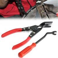 Plastic Rivets Fastener Fender Bumper Push Pin Clips Free Remover Tool Set 6L