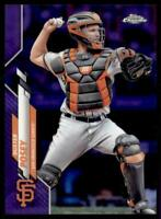 2020 Topps Chrome Base Purple Refractor #157 Buster Posey /299