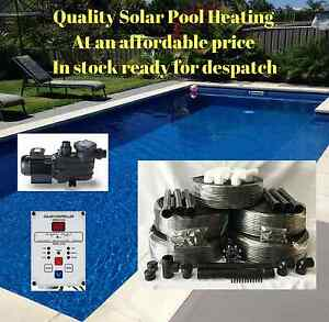 SOLAR POOL HEATING/HEATER KIT 12M2 WITH PUMP & CONTROLLER FOR SWIMMING POOL/SPA