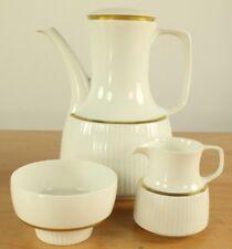 Kaffeekanne Milch & Zucker Rosenthal Modulation Gold Rand Band Porzellan Service