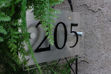 Custom House Number Aluminum & Acrylic Sign Outdoor and Weatherproof