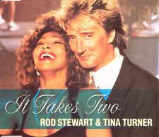 ROD STEWART & TINA TURNER - It takes two 3TR CDM 1990 POP ROCK