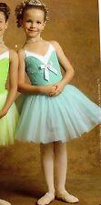 NWT Ballet Dance Costume Lace Overlay attached European tutu Blue Intermediate C
