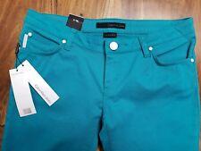 CK Calvin Klein Jeans Mens Turquoise  Denim Jeans Low Rise Skinny