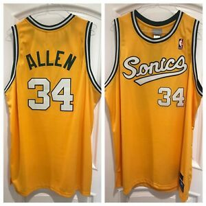 Ray Allen Sonics Authentic Throwback Jersey (52, NWT) dead-stock