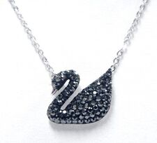 ICONIC SWAN BLACK CRYSTAL PENDANT   2017 SWAROVSKI JEWELRY #5347329
