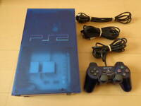 Playstation 2 Ocean Blue Console PS2 Import SCPH-37000