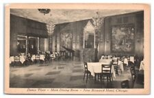 Dance Floor, Main Dining Room, New Bismarck Hotel, Chicago, IL Postcard