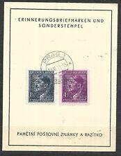 Czechoslovakia, Souvenir sheet revolutionary overprints 1945
