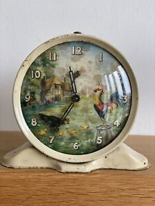 Vintage Chicken pecking Smiths Alarm clock 1950/60s