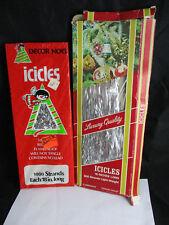 vintage tinsel icicles Decor Noel Luxury Quality 1000+500 strands 1 pkg sealed