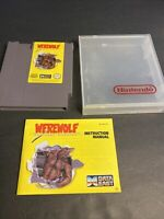Werewolf The Last Warrior Nintendo NES Game Cartridge Manual  1990
