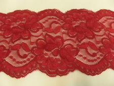 encaje COMO POR METROS Elástico 10cm de ancho rojo BW / Lycra / Elastano