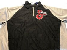 Men's Majestic Cool Base Arizona Diamondbacks Warm Up SS Jacket 1/4 Zip Size XL