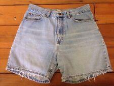 "90s LL Bean Jeans Light Wash 100% Cotton Denim Womens Mom Shorts 12R 31"""