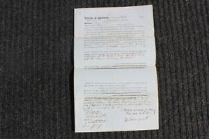 Signed -1851,Ashbel Welch, Lambertville ,NJ,RR Inventor- Civil Engineer, Canals