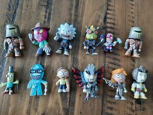Funko Lot of 12 Rick And Morty Minimates figures, like Pop Vinyl