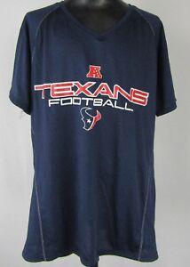 Houston Texans Youth S - XL Reebok Short Sleeve T-Shirt Navy Blue NFL