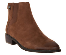 Franco Sarto Leather Ankle Boots - Brandy Mushroom Brown Women's 5
