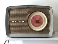 Attractive 1956 Brown Bakerite Bush AM Radio In Working Condition