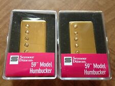 Seymour Duncan SH-1 59 Model 4c Humbucker Pickup Set Neck Bridge Gold Cover PAF