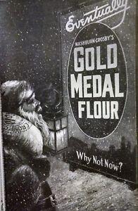 1916 Gold Metal Flour Washburn Crosby Kitchen Bread Christmas Gift Santa Vintage