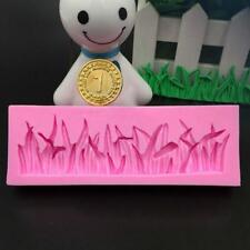 Pink Silicone Grass Fondant Mould Cake Decorating Sugar Craft Baking Mold Tool