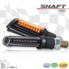 LED-Blinker Shaft getönt M10 Universal Motorrad E-geprüft