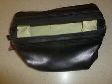 Vintage Cowhide Leather Travel Toiletry Shaving Bag Kit Malta Made