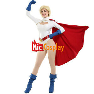 Powerful Girl Kara Karen Cosplay Costume Bodysuit with Cape