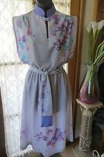 VINTAGE  80'S ~ ASIAN Inspired DRESS * Size 12 *