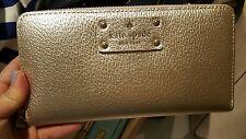 NWT Kate Spade Wellesley Neda Clutch Wallet WLRU1153 in Rose Gold