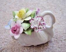 Royal Doulton England Porcelain SWAN-vase with flowers figure-ornament