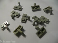 Lego 10 plates mod gris clair 6940 2531 5521 6636  /10 light gray plate with arm