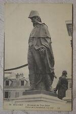 """CPA """" BELFORT - Monument des Trois Sièges - Satue du Commandant Legrand"""