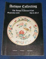 ANTIQUE COLLECTING SEPTEMBER 1978 - COLLECTING ART GLASS/COLLECTING CARICATURES