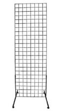 Gridwall Panels 2' x 6' Set of 4 Grid Wall Display Black Panel Steel 8 Legs