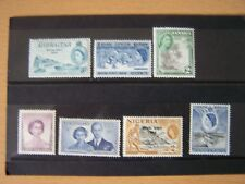 ROYAL VISIT,QE11,EARLY STAMPS,7 DIFFERENT,U/MINT,EXCELLENT.