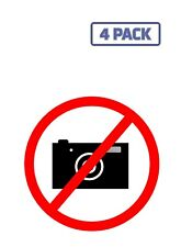 No Photography Photos Camera Ban On Taking Pictures Sticker Vinyl Decal 1-566