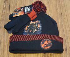JURASSIC WORLD Winter Beanie Hat & Gloves Set Little Boys