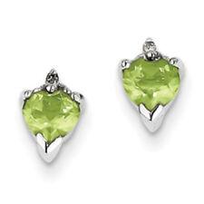 Orecchini di lusso verde naturale a cuore