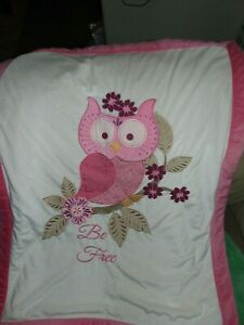 Koala Baby  - Pink Owl Plush Security Blanket Lovey with Be Free