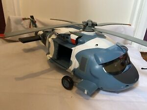 Disney Store PLANES Helicopter Blue White Camo Amy Sounds HECTOR VECTOR 22 inch