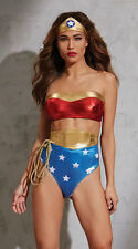 Wonder Woman AMERICAN HOTTIE LINGERIE COSTUME One-Size Strappy NWT SEXY SOLDOUT