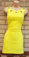FRANK LYMAN DESIGN LIME GREEN CUT OUT HOLES BEADED NECK BODYCON MINI DRESS 12