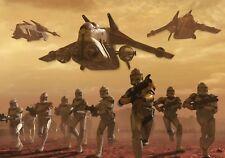 Papier peint poster style grande photo Art Star Wars klones guerre Enfants Chambre à coucher