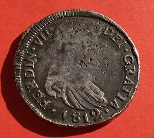 🔥VERY RARE🔥SILVER 8 REALES FERDINAD VII 1812 DURANGO(MEXICO) M.R