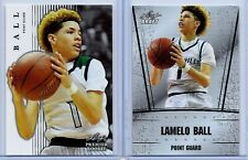 """(2) LAMELO BALL 2018 LEAF """"1ST EVER PRINTED"""" HIGH SCHOOL ROOKIE CARD LOT"""